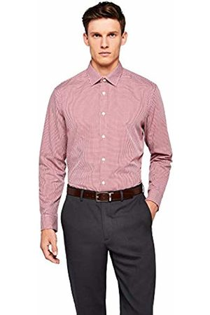 Hem & Seam Men T-shirts - Men's Regular Fit Gingham Formal Shirt