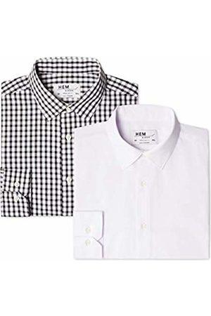 Hem & Seam Men's 2 Regular Fit Checked Formal Shirt
