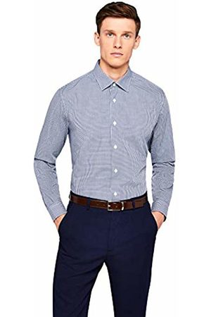 Hem & Seam Men's Regular Fit Gingham Formal Shirt