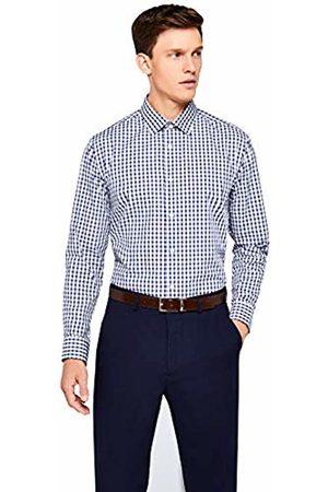 Hem & Seam Men's Regular Fit Block Check Formal Shirt