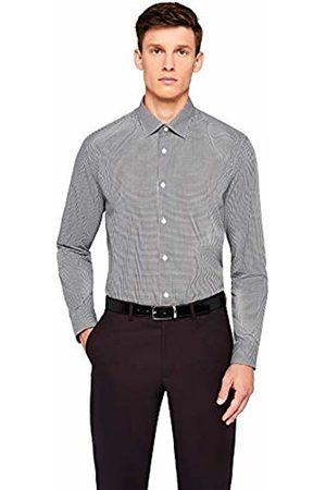 Hem & Seam Men's Regular Fit Gingham Formal Shirt