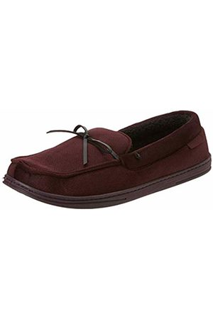 Isotoner Men's Herringbone Moccasin Slippers Low-Top