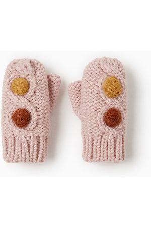 Zara Gloves - MITTENS WITH POMPOMS