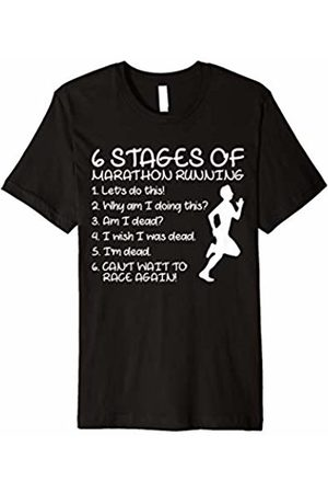 6 Stages Of Marathon Running Shirt 6 Stages Of Marathon Running T-shirt Runners Tee