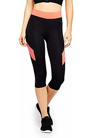 AURIQUE Women's Cropped Sports Leggings ( /Geranium) Small