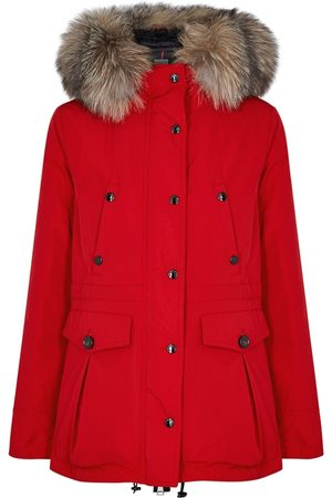 Moncler Macareux Fur-trimmed Shell Coat