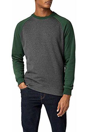 Urban classics Men Sweatshirts - Men's 2-Tone Raglan Crewneck Sweatshirt