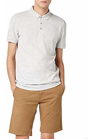 Selected Homme Men's Shddamon Melange Ss Polo Noos Shirt