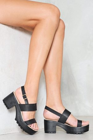 NASTY GAL Womens Raise Hell Faux Leather Platform - - 3