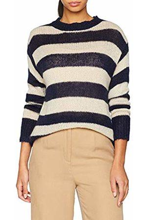 Molly Bracken Women's Ladies Knitted Sweater Premium Jumper, Bleu Navy
