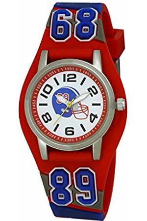 Ravel American Football 3D Cuff Strap Boy's Quartz Watch with Dial Analogue Display and Plastic Strap R152110