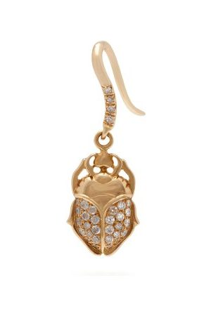 Aurélie Bidermann 18kt And Diamond Scarab Single Earring - Womens