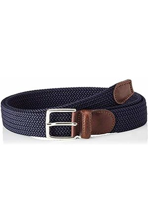 GANT Men Elastic Braid Belt, (Marine)