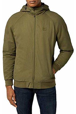 Urban classics Men's Hooded Cotton Zip Jacket