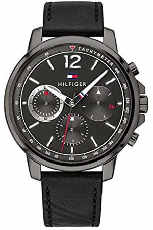 Tommy Hilfiger Mens Multi dial Quartz Watch with Leather Strap 1791533