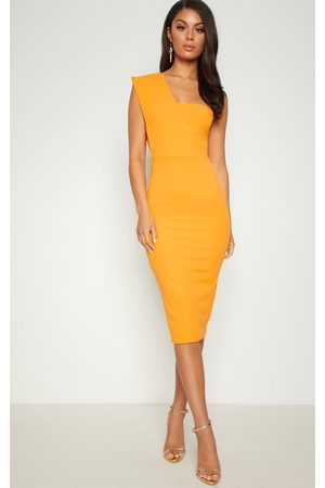 PRETTYLITTLETHING One Shoulder Draped Midi Dress