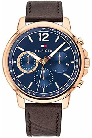 Tommy Hilfiger Mens Multi dial Quartz Watch with Leather Strap 1791532
