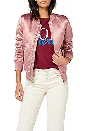 Urban classics Women's Ladies Satin Bomber Jacket, -Rosa (oldrose 738)