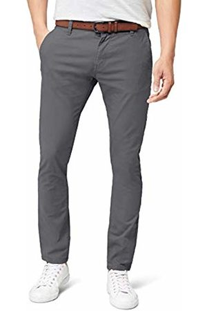 Tom Tailor Men's Solid Skinny Chino with Belt Trouser, (Somber )