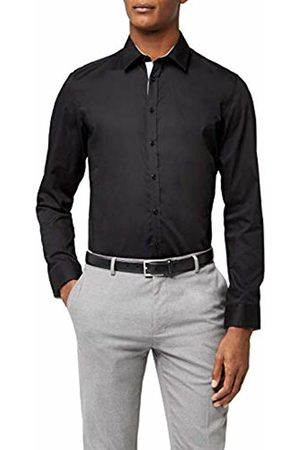 Redford Men's Alicante Formal Shirt, (Schwarz)