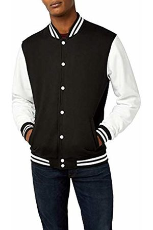 Urban classics Men's 2-Tone College Sweatjacket Jacket, Multicoloured-Blk/Wht