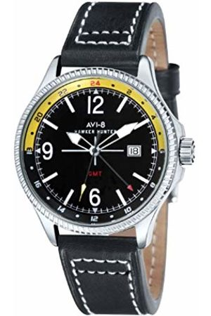 Avi-8 Men's Hawker Hunter Quartz Watch with Dial Analogue Display and Leather Strap AV-4007-02