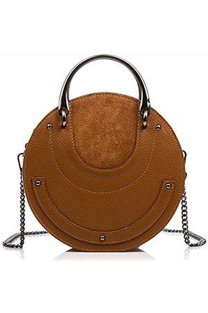 Firenze Artegiani . Dollaro Women's Genuine Leather Handbag with Handle and Exlusive Shape Women's Handbag Made in Italy. Vera Pelle Italiana. 22 x 22 x 8 cm. Colour: .