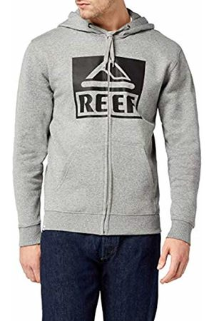 Reef Men's Classic Zip Sta Hoodie, (Heather/ HGR)