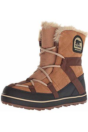 sorel Women's GLACY EXPLORER SHORTIE Boots, Brown (Elk)