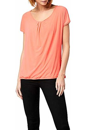 Berydale Women's Short Sleeve Shirt, Double Layered with Mesh Fabric, Coral