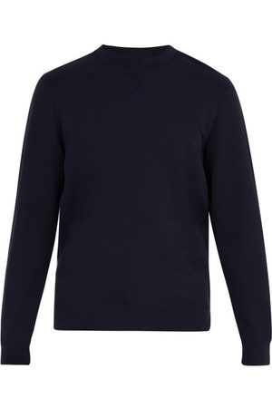 Sunspel Crew-neck Cotton Sweatshirt - Mens - Navy