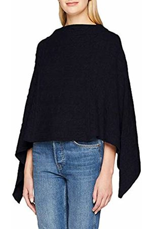 GANT Women's O3. Lambswool Cable Poncho, (Marine)