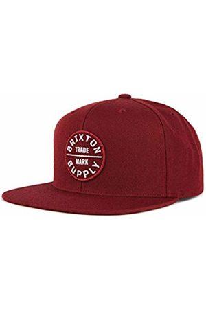 Brixton Men's Oath III Snapback Baseball Cap, Burgundy