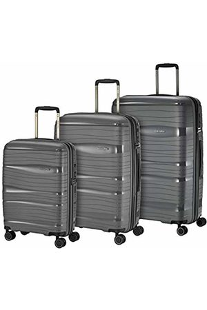 """Elite Models' Fashion """"Motion"""" Lightweight Robust and Movable 4-Wheeled Travel Suitcase Trolley with Hard Shell in 4 Colours Suitcase Set 77 cm, Luggage Set, 074940-04"""