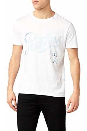 Replay Men's M3274 .000.20994 T-Shirt, (Optical 1)