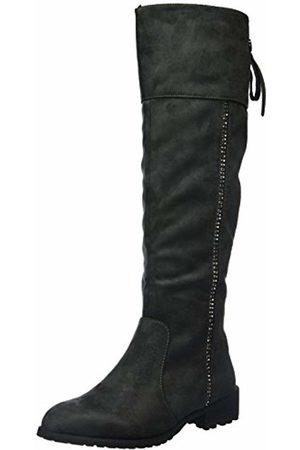 Xti Women's Bota SRA. Antelina Gris Heels Size: 6.5