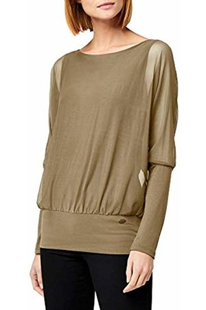 Berydale Long Sleeve Shirt with Bat Sleeves and Inner Top, Olive