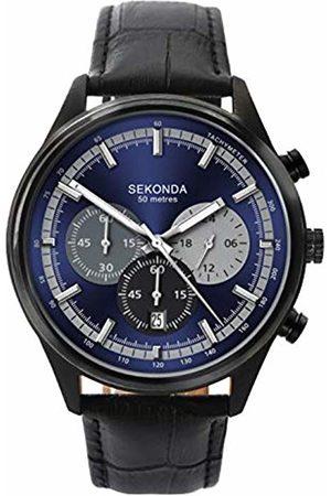 Sekonda Mens Chronograph Quartz Watch with Leather Strap 1593.27