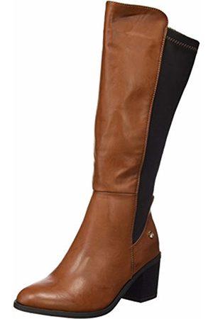 Xti Women's Bota Sra. C. Combinado Camel . Long Boots Size: 6