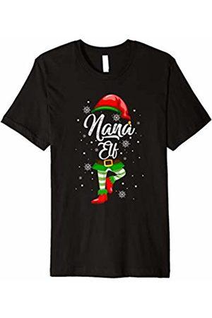 Nana Christmas Elf Holiday Gifts By Amy Nana Elf Matching Family Christmas T-Shirt Pajamas Elves