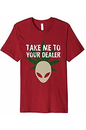 Take Me To Your Dealer tshirt Alien Weed Xmas gift Women Men