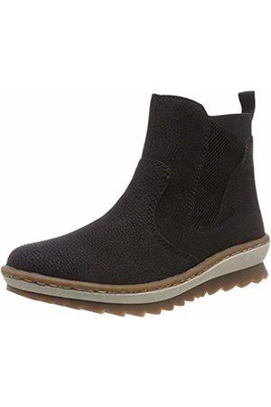 Rieker Women's Z8694 Chelsea Boots, Schwarz 00