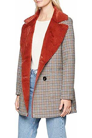Rich & Royal Women's Double face Check Fur Coat