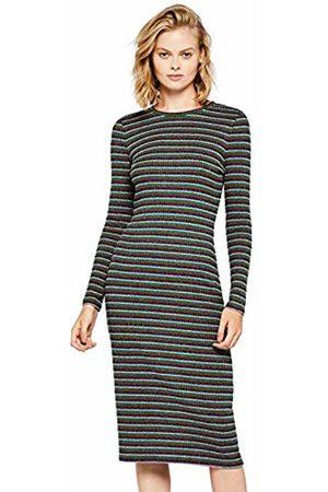 FIND Stripe Rib Midi Dress