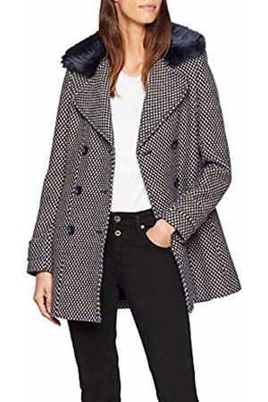 Naf-naf Women's JHNH9 Coat, (Bleu Marine 567)