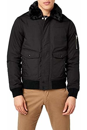 Schott NYC Men's Air Bomber Varsity Long Sleeve Jacket