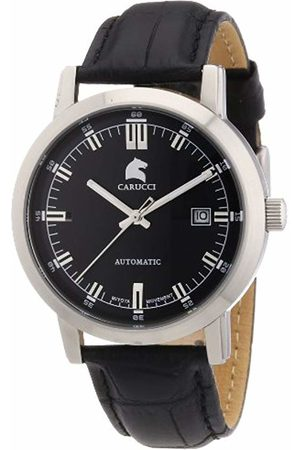Carucci Watches Men's Automatic Watch Messina CA2195BK with Leather Strap