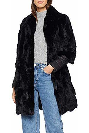 CUPLÉ Women's Abrigo Pelo puños combinados Coat, ( 0001)
