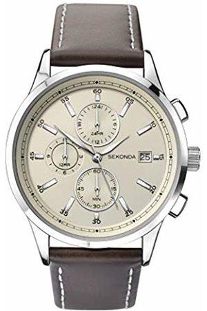 Sekonda Watches Mens Multi dial Quartz Leather Strap 1394.27