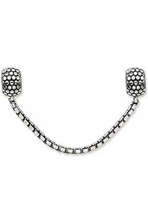 Thomas Sabo Unisex-Safety chain Karma Beads 925 Sterling blackened Silicon KS0003-585-12